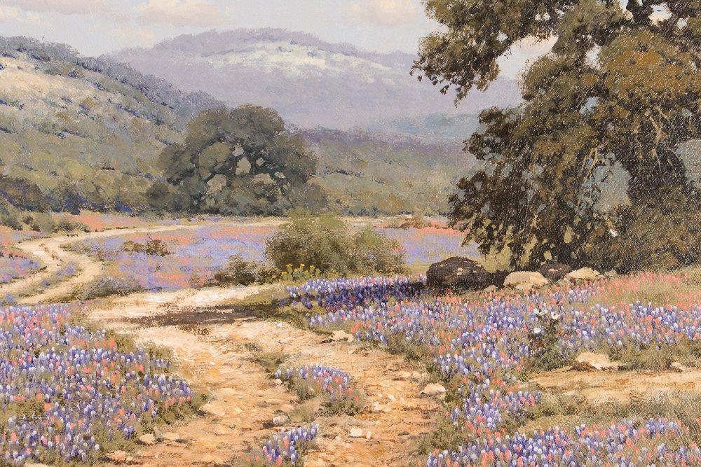 Randy Peyton painting Texas Landscape w Bluebonnets - 4