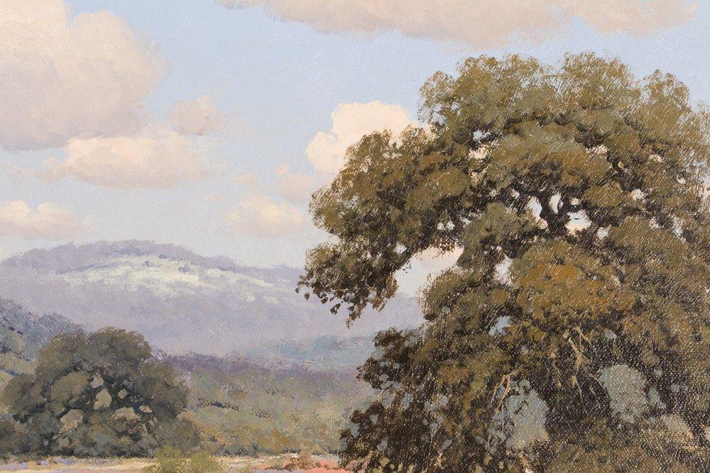 Randy Peyton painting Texas Landscape w Bluebonnets - 5