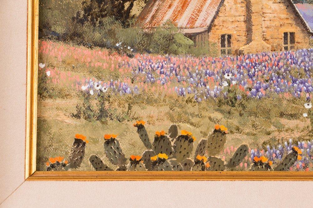 Randy Peyton painting Texas Landscape w Bluebonnets - 6