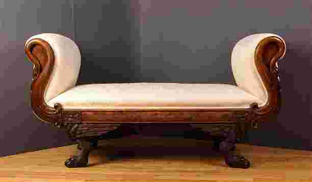 Fainting Couch W Carved Cabriole Feet Amp Swan Neck