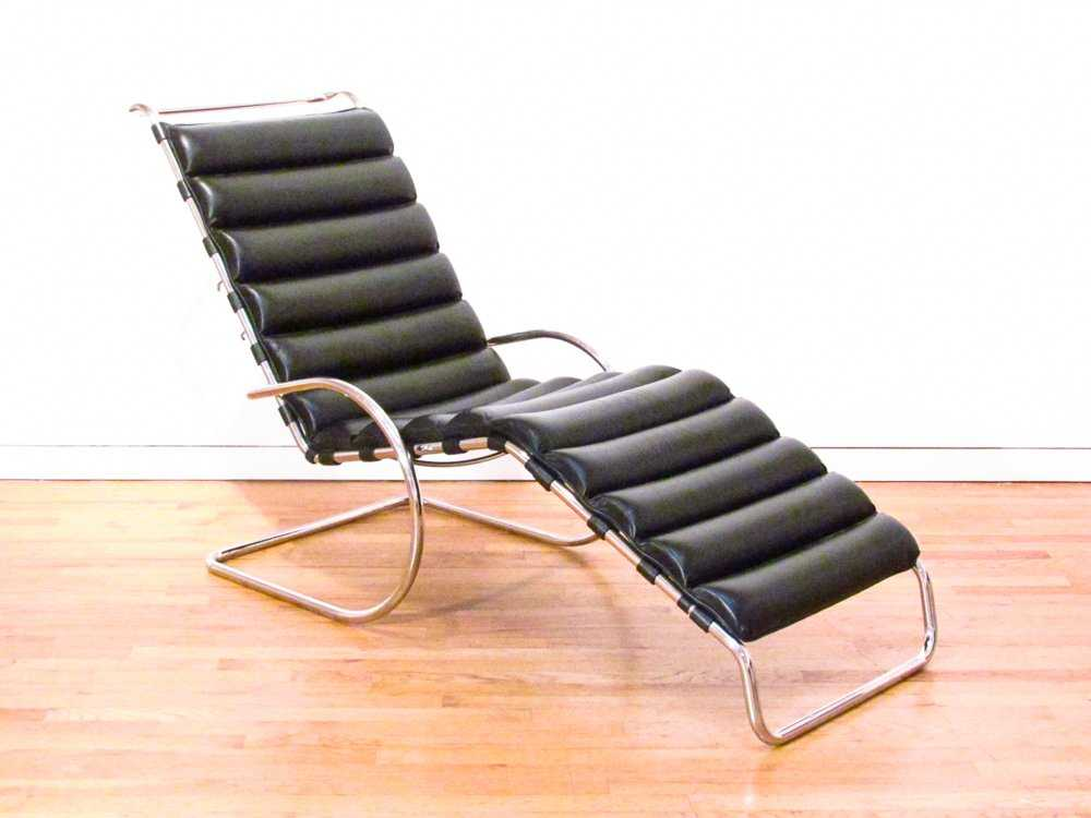 Mies Van Der Rohe MR Adjustable Chaise Lounge By Knoll On LiveAuctioneers