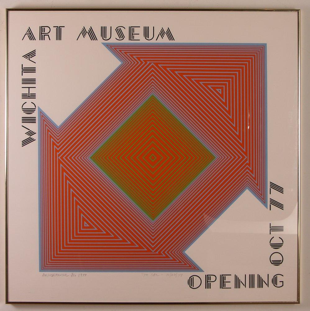 """Richard Anuszkiewicz signed """"Wichita Art Museum Poster"""""""