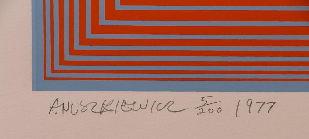 """Richard Anuszkiewicz signed """"Wichita Art Museum Poster"""" - 2"""