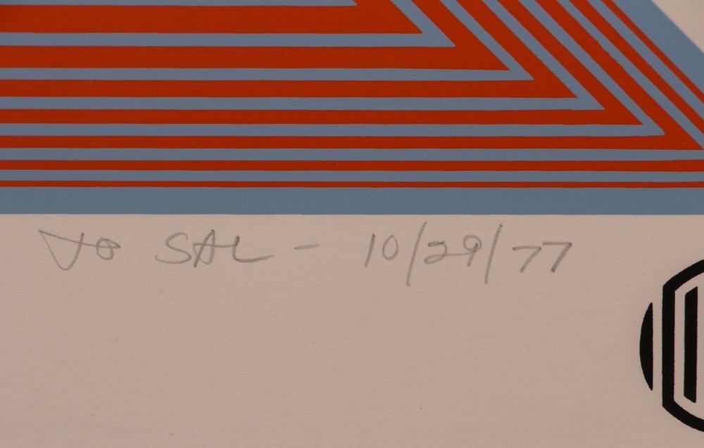 """Richard Anuszkiewicz signed """"Wichita Art Museum Poster"""" - 3"""