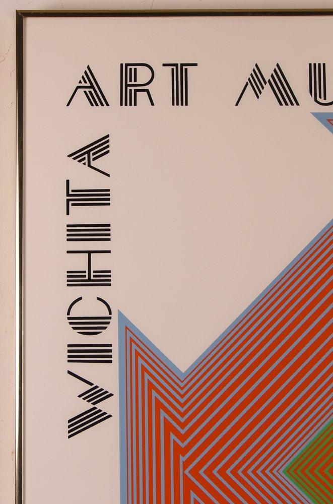 """Richard Anuszkiewicz signed """"Wichita Art Museum Poster"""" - 5"""