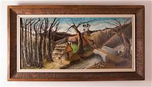 """Jacques E. Gourgue """"Enchanted Landscape"""" Haitian"""