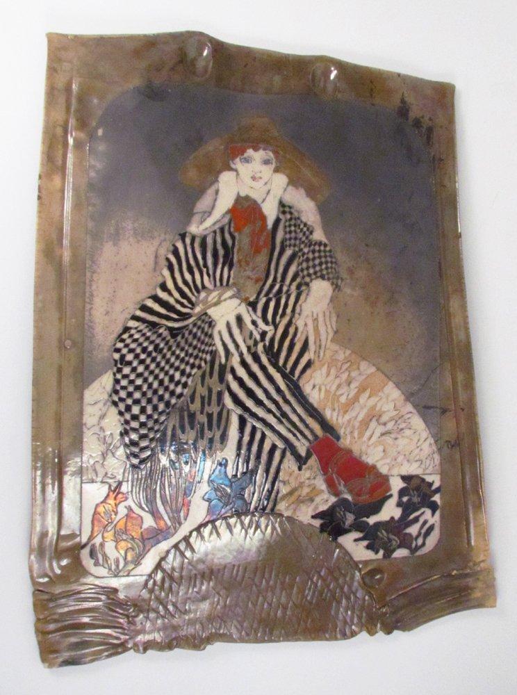 Susan and Steven Kemenyffy Raku Ceramic Relief