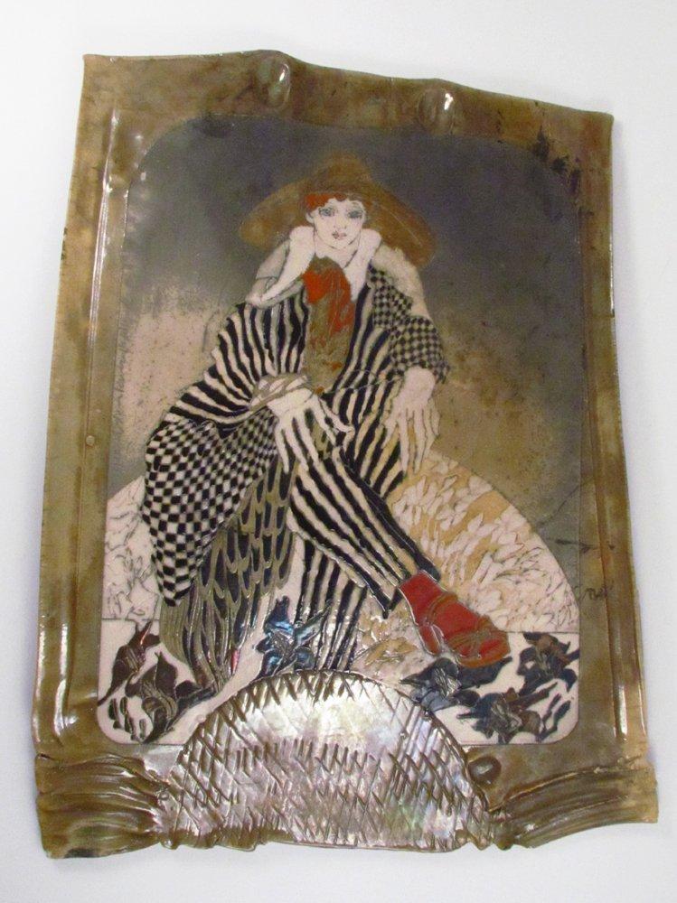 Susan and Steven Kemenyffy Raku Ceramic Relief - 2