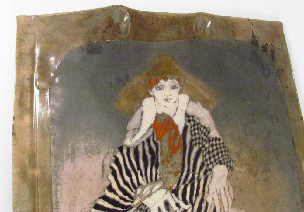 Susan and Steven Kemenyffy Raku Ceramic Relief - 5