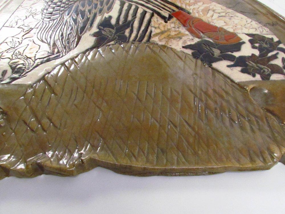 Susan and Steven Kemenyffy Raku Ceramic Relief - 6