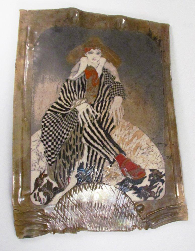 Susan and Steven Kemenyffy Raku Ceramic Relief - 9