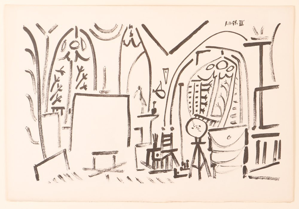 """Pablo Picasso 1955 lithograph from  """"CALIFORNIE SUITE"""""""