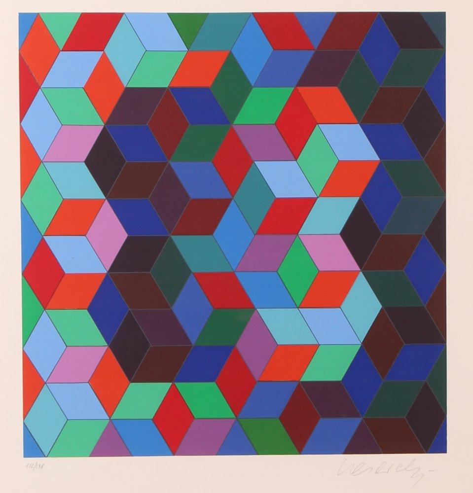 """Victor Vasarely orig serigraph """"Deuton"""""""