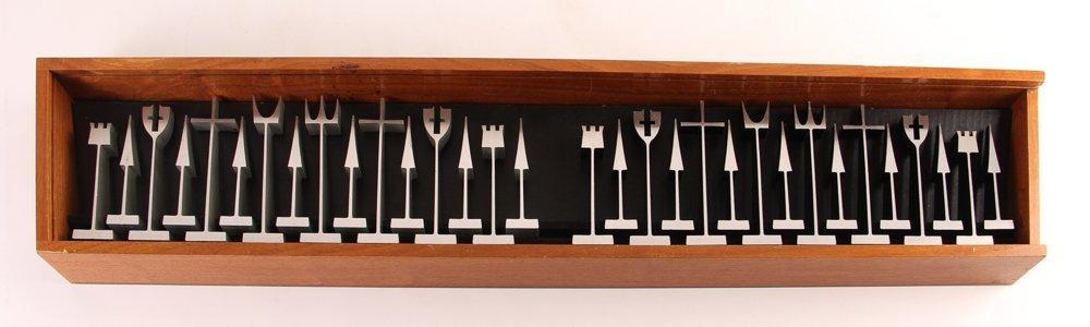 Austin E. Cox Aluminum Modernist Chess Set 1962 - 2