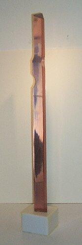 436: Tom Brunger:  plexi column sculpture