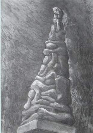 Study for Holocaust Memorial: Jerry Caplan