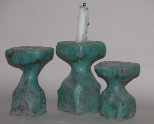 491: Set of 3 Candlestick Holders: Jerry Caplan