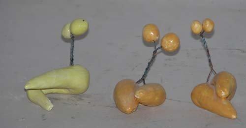 495: Three Small Biomorphic Sculptures: Jerry Caplan