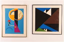 2 Abstract Geometric original prints