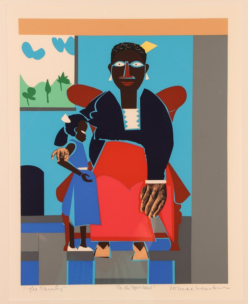 "Romare Bearden Serigraph ""The Family"""
