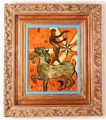 """Henry Faulkner oil  """"Surreal Bareback Rider"""""""