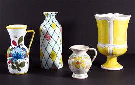 Collection of 4 Italian Ceramic pieces by Raymore