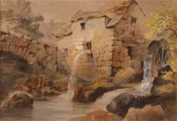 Colman Watercolor of Watermill