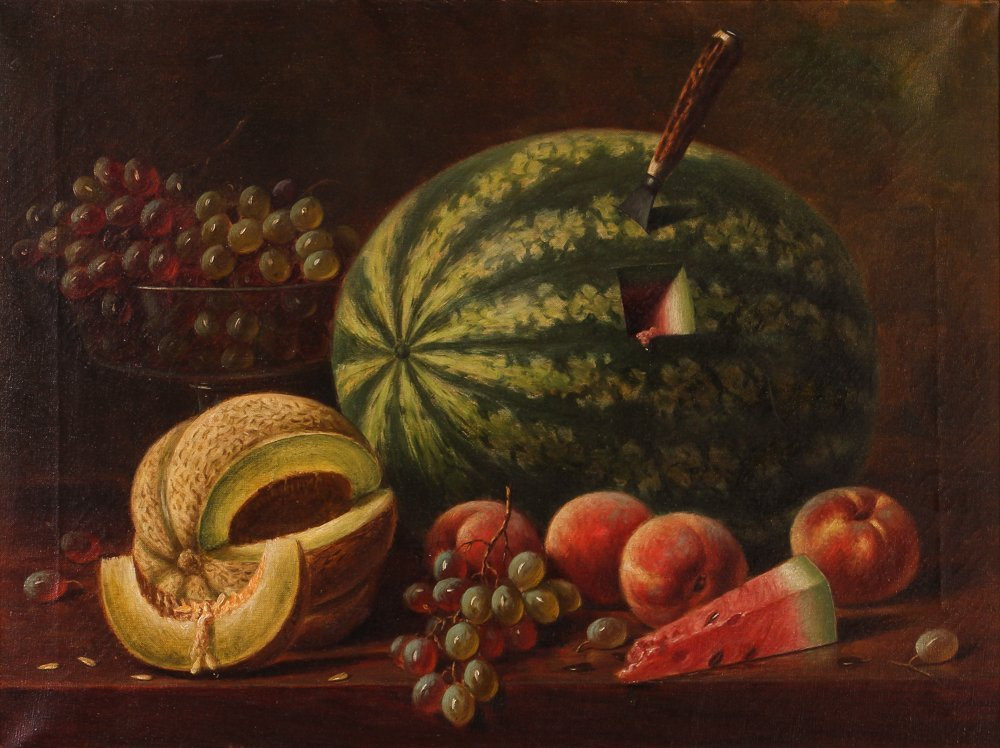 Important A.F. King Still Life with Watermelon