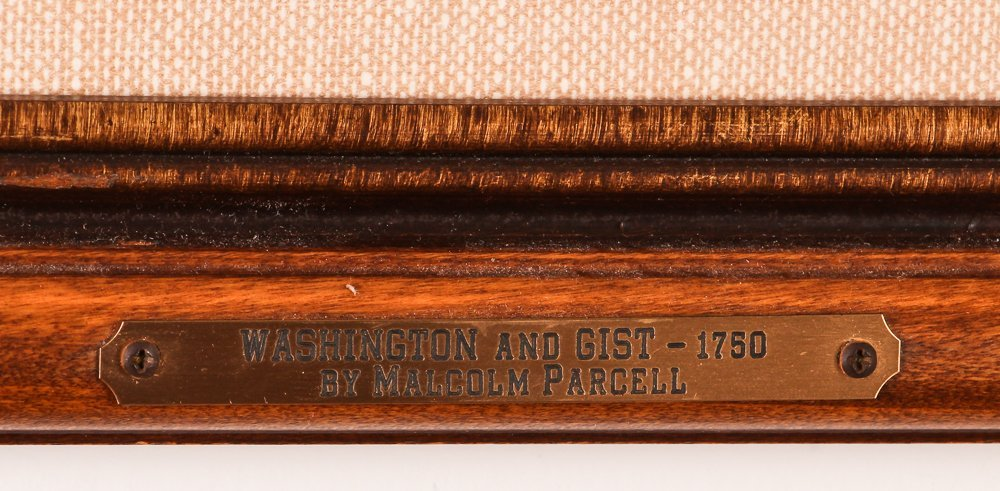 """Malcolm Parcell """"Washington and Gist 1750"""" litho - 3"""