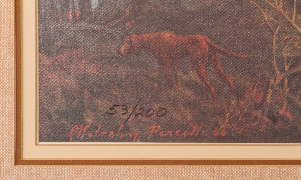 """Malcolm Parcell """"Washington and Gist 1750"""" litho - 4"""