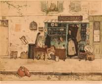 "TAVIK FRANTISEK SIMON etching ""Bric-ÌÁ-Brac"""