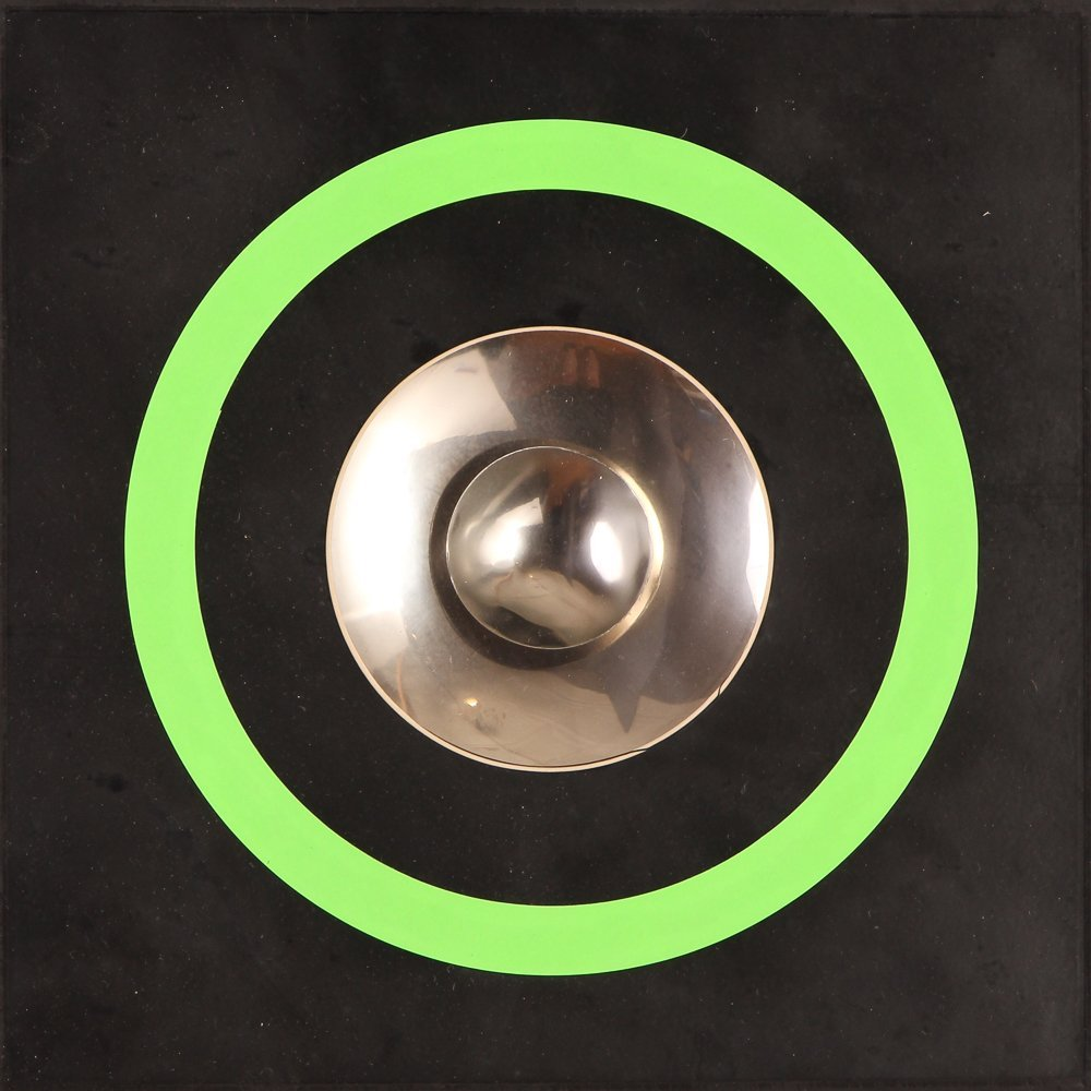 "Milan Dobeš  ""Untitled Lime Green Circular Geometric"