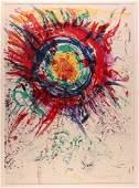Walasse Ting & Alechinsky 1961 Collaborative litho Sun