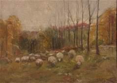 "A. Bryan Wall ptg. ""Sheep Grazing"""