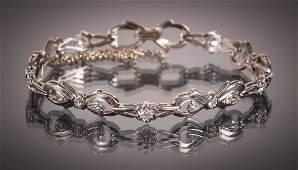 Platinum Bracelet with 19 Set Diamonds