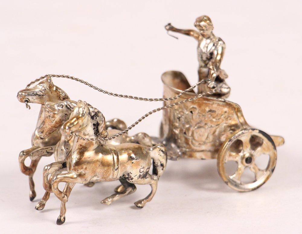 European 0.800 Silver Chariot