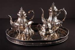 Reed  Barton 4 pc Sterling Coffee  Tea Set