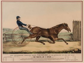 "Currier And Ives 1848 Large Plate "" Trustee"""