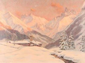 Erwin Kettemann Alpine Landscape Painting