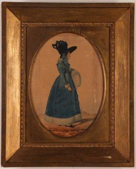 "Watercolor Full Portrait ""fannie Walder"" Worcester."