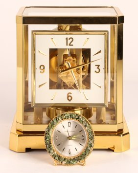 Square Dial Swiss Le Coultre & Cle Atmos Clock W