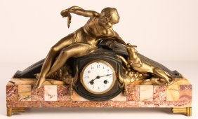 French Style Marble Mantle Clock