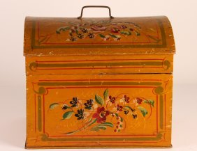 Pennsylvania Late 19th Century Painted Dome Top Box