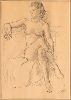 Vincent Nesbert Nude Drawing