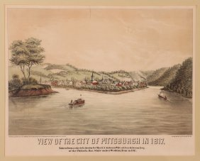 W.c. Wall View Of The City Pittsburgh In 1817