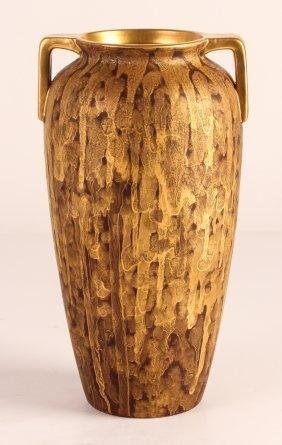 Japanese Ceramic Vase With Interesting Glaze