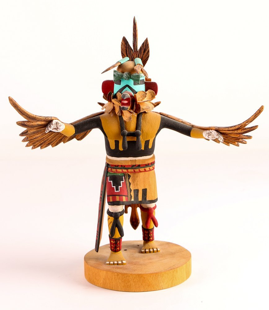 Hopi Kachina - Joseph Duwyenie polychromed cottonwood
