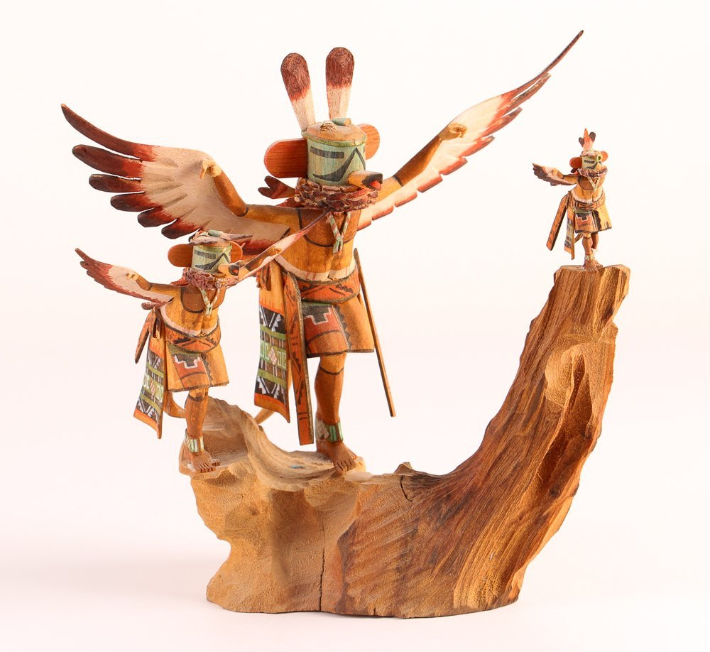 Hopi Kachina - Coolidge Roy, Jr.  polychromed