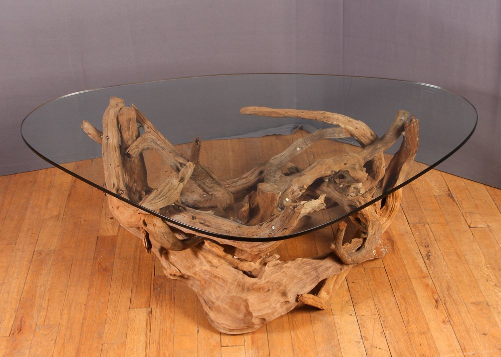 Mid-Century Driftwood Coffee Table