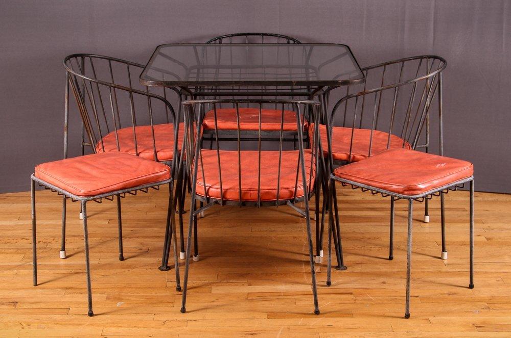 7 pc. Mid-Century Modern Patio Set